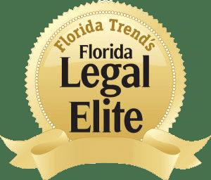 Logo of award of Florida Trend's Florida Legal Elite 2014